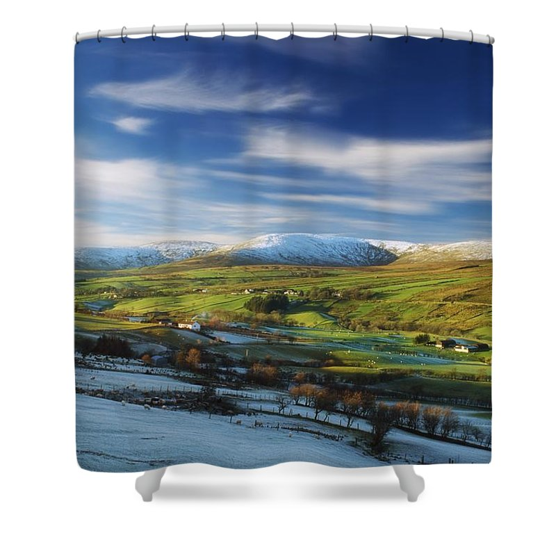 Beauty In Nature Shower Curtain featuring the photograph Sperrin Mountains, Co Tyrone, Ireland by The Irish Image Collection