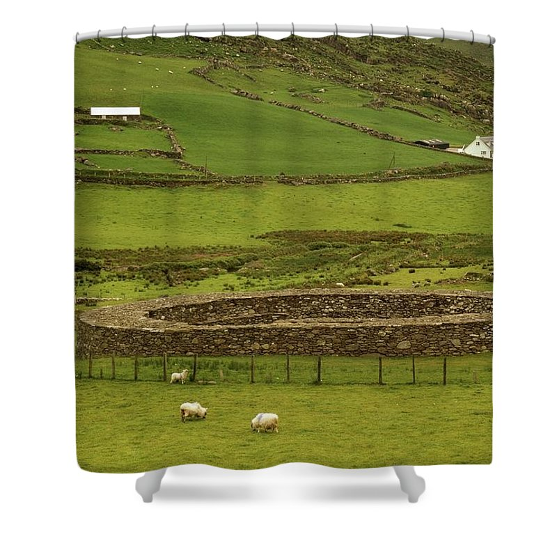 Cummins Shower Curtain featuring the photograph Staigue Fort, Kerry by Richard Cummins