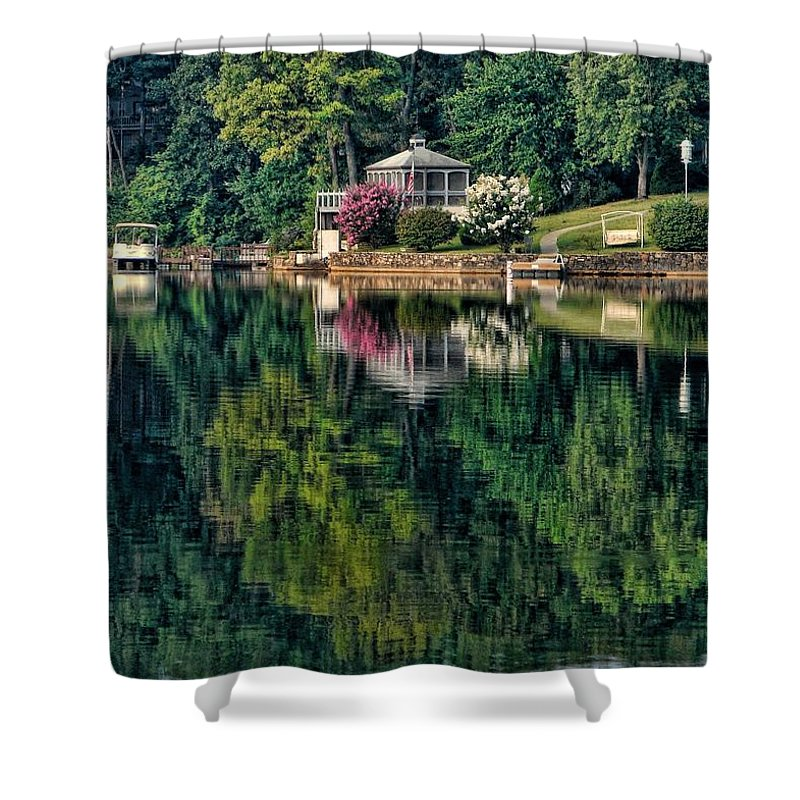 Landscape Shower Curtain featuring the photograph Still Waters by Rick Friedle