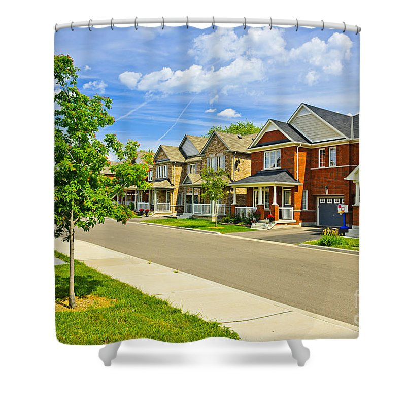 Houses Shower Curtain featuring the photograph Suburban Homes by Elena Elisseeva