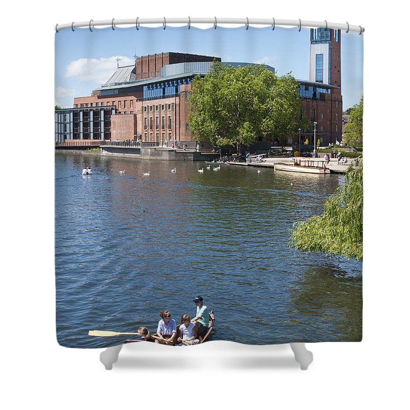 2011 Shower Curtain featuring the photograph Swan Theatre by Andrew Michael