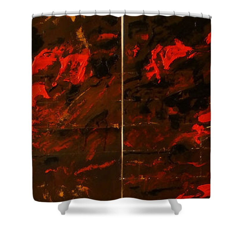 Shower Curtain featuring the painting Symphony No. 8 Movement 13 Vladimir Vlahovic- Images Inspired By The Music Of Gustav Mahler by Vladimir Vlahovic