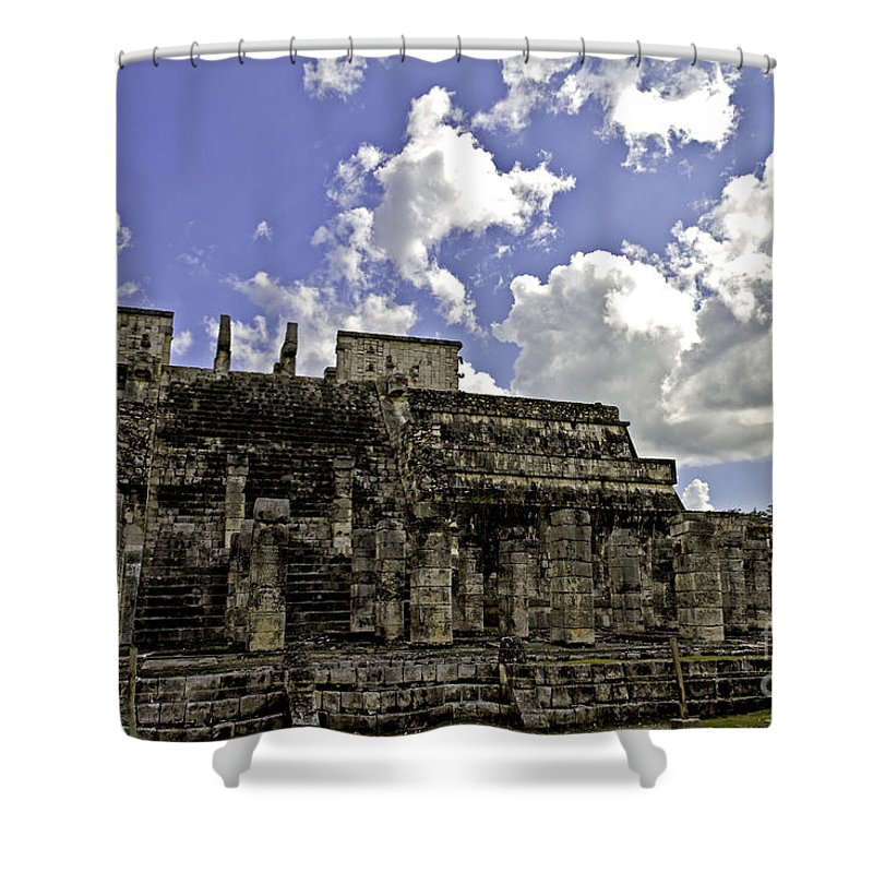 Chichen Itza Shower Curtain featuring the photograph Temple Of The Warriors by Ken Frischkorn