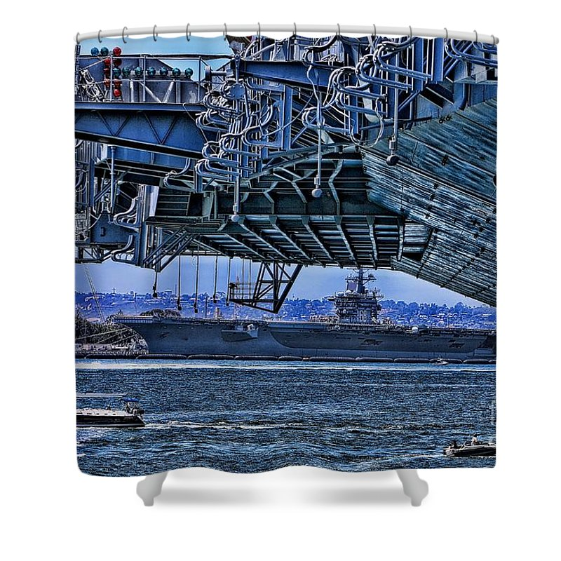 Aircraft Carriers Shower Curtain featuring the photograph The Carriers by Tommy Anderson