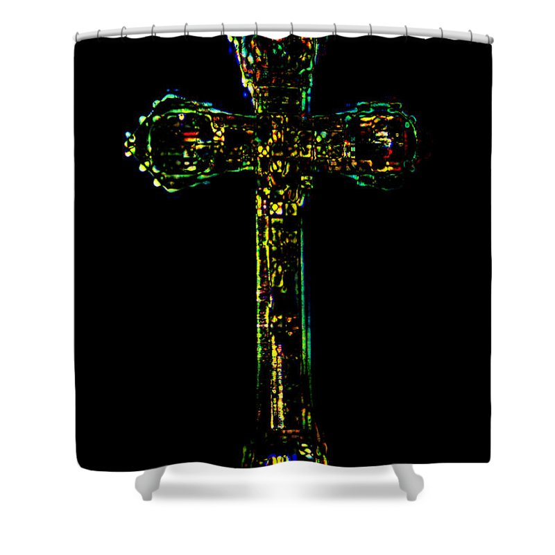 Cross Shower Curtain featuring the photograph The Cross by Donna Bentley