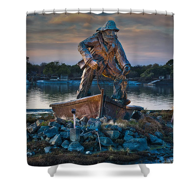Landmark Shower Curtain featuring the photograph The Fisherman by Greg Nyquist