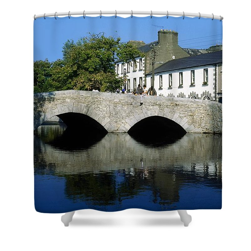 Architecture Shower Curtain featuring the photograph The Mall, Westport, Co Mayo, Ireland by The Irish Image Collection