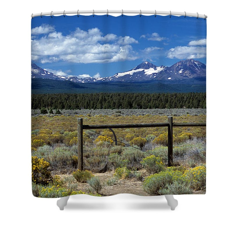 Three Sisters Shower Curtain featuring the photograph Three Sisters by Sharon Elliott