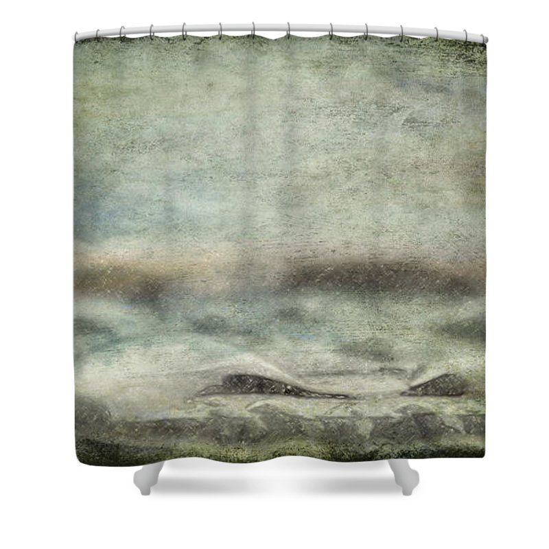 Abstract Shower Curtain featuring the photograph Under The Sea by Trish Tritz