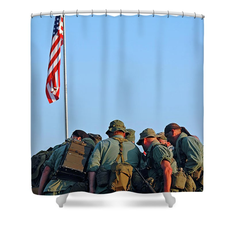 Veterans Shower Curtain featuring the photograph Veterans Remember by Carolyn Marshall