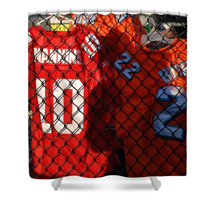 New York Giants Shower Curtain featuring the photograph 10 22 by Rob Hans