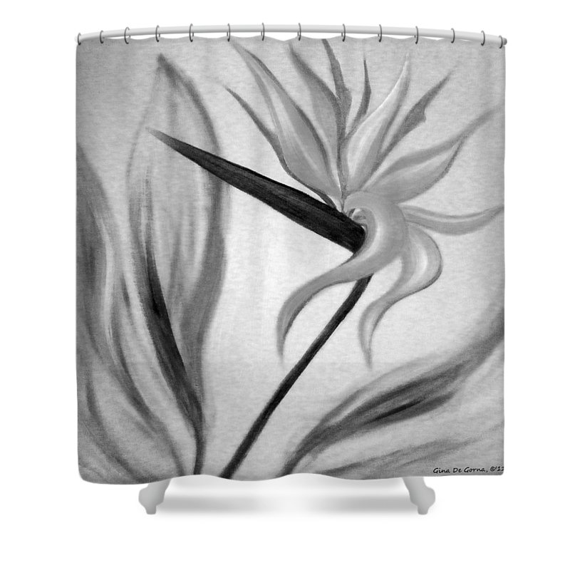 Flowers Shower Curtain featuring the painting Bird Of Paradise by Gina De Gorna