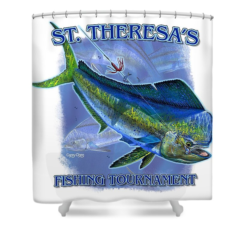 T Shirts Shower Curtain featuring the digital art Custom T Shirts by Carey Chen