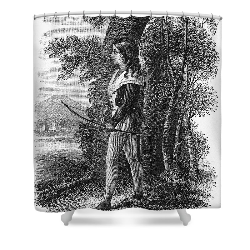 1795 Shower Curtain featuring the photograph George Gordon Byron by Granger
