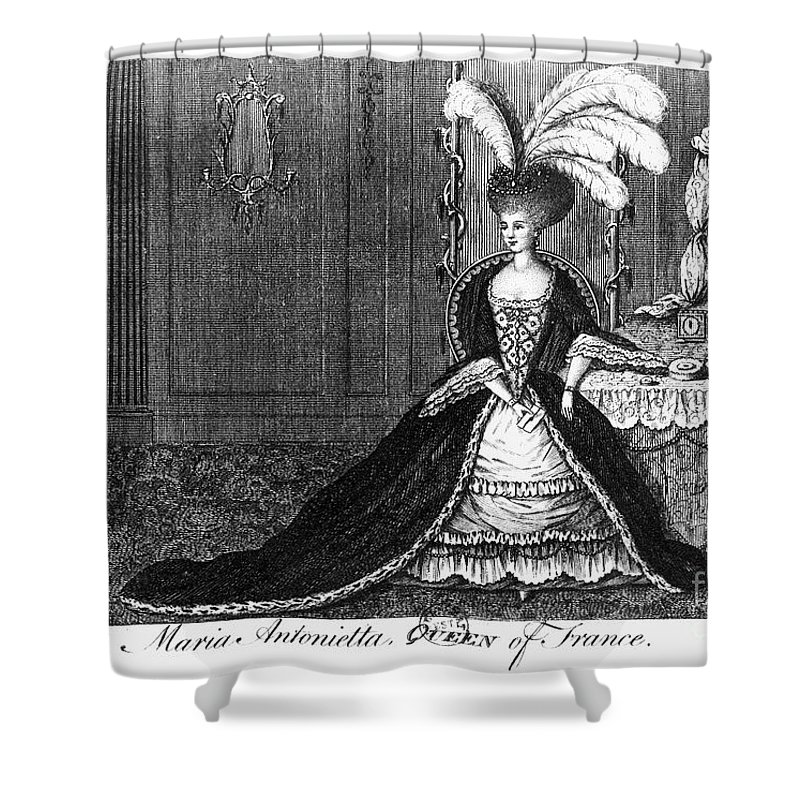 1777 Shower Curtain featuring the photograph Marie Antoinette (1755-1793) by Granger