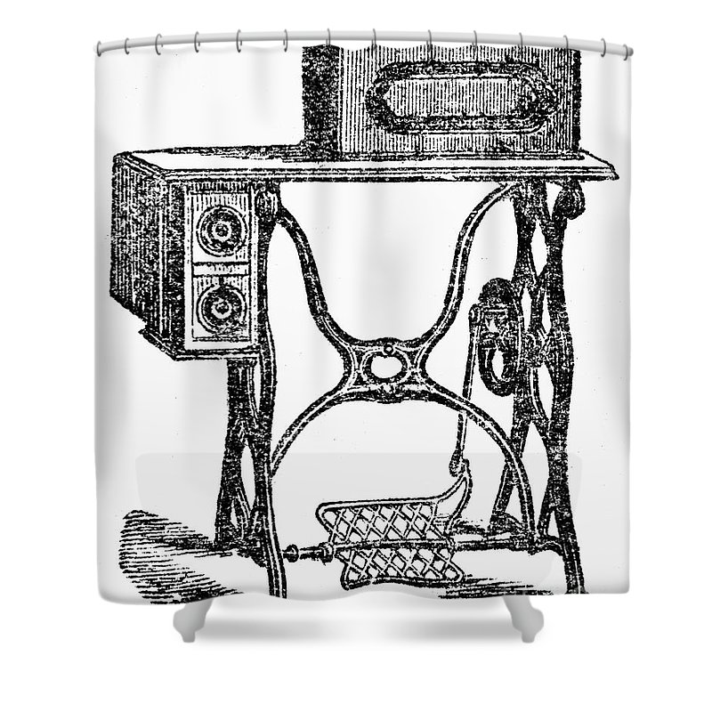 19th Century Shower Curtain featuring the photograph Sewing Machine by Granger