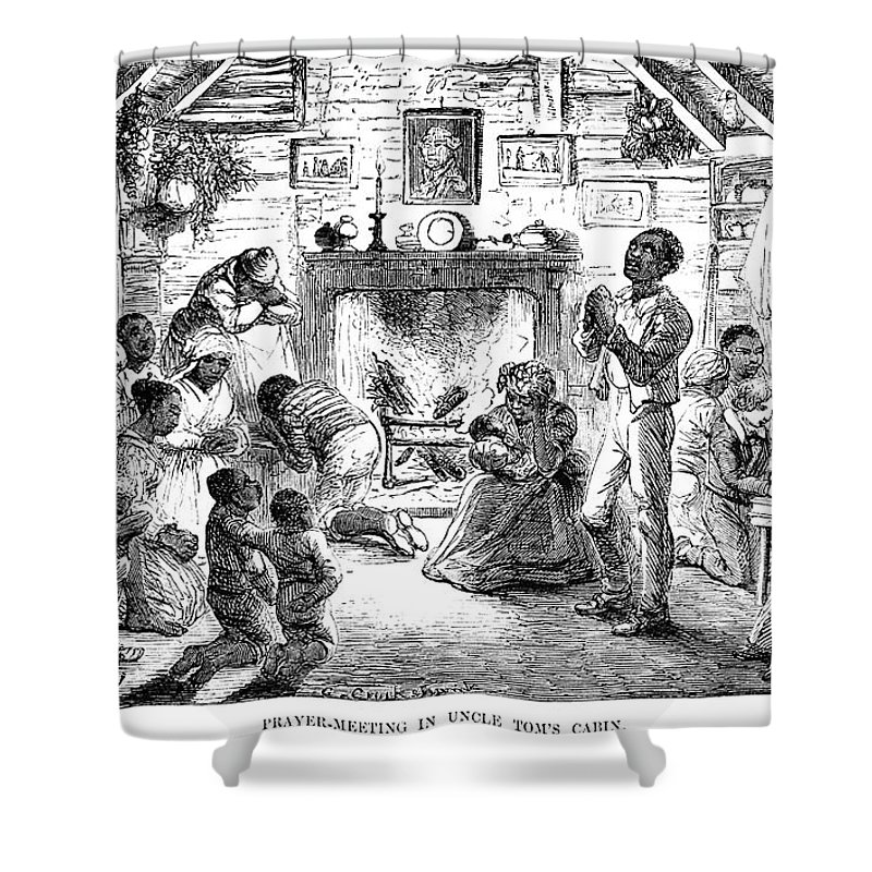 1852 Shower Curtain featuring the photograph Uncle Toms Cabin by Granger