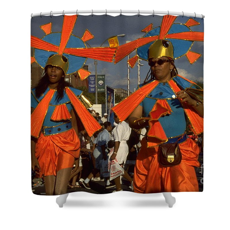 Parades Shower Curtain featuring the photograph West Indian Day Parade Brooklyn Ny by Mark Gilman