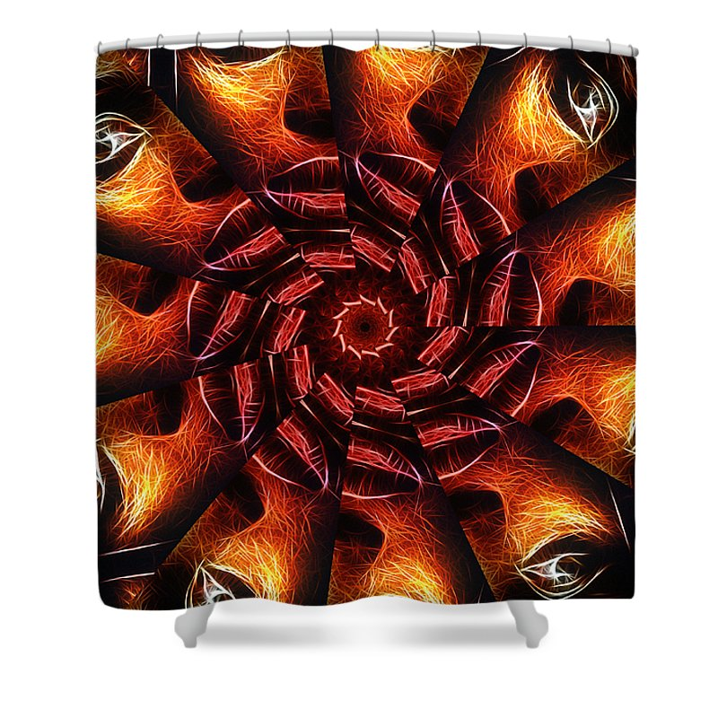 Eye Face Mouth Kiss Lips Kisses Looking Abstract Painting Fractal Woman Female Girl Shower Curtain featuring the digital art 1000 Kisses For You by Steve K