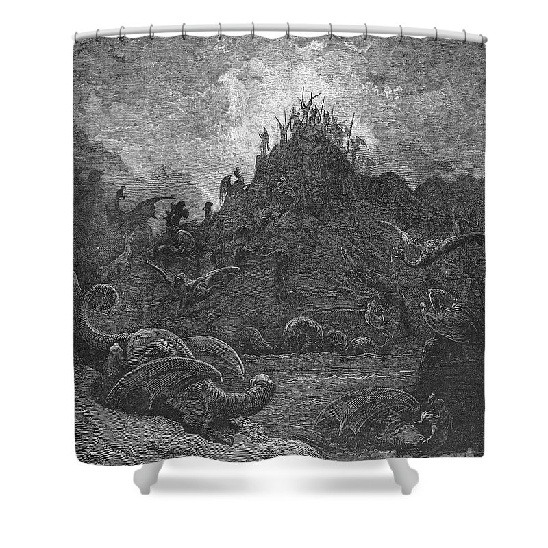 Book Shower Curtain featuring the photograph Milton: Paradise Lost by Granger
