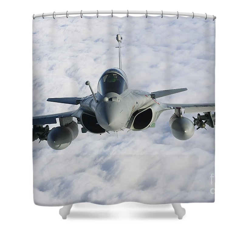 French Air Force Shower Curtain featuring the photograph Dassault Rafale B Of The French Air by Gert Kromhout