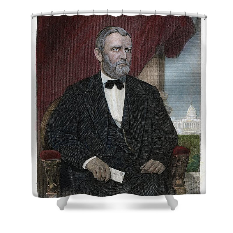 1869 Shower Curtain featuring the photograph Ulysses S. Grant (1822-1885) by Granger