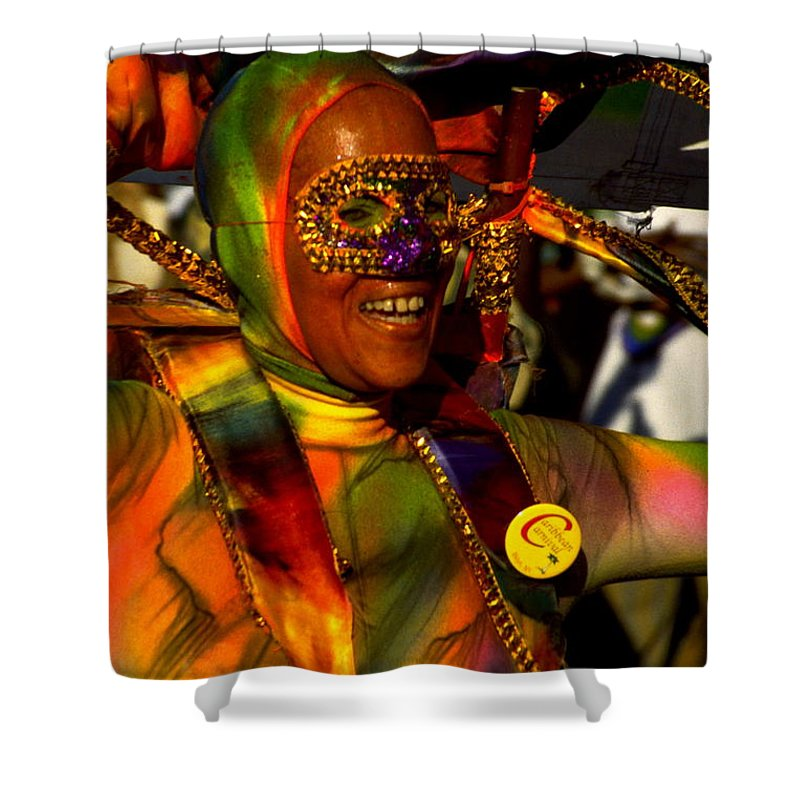 Parade Shower Curtain featuring the photograph West Indian Day Parade Brooklyn Ny by Mark Gilman