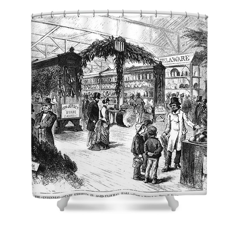 1876 Shower Curtain featuring the photograph Centennial Fair, 1876 by Granger