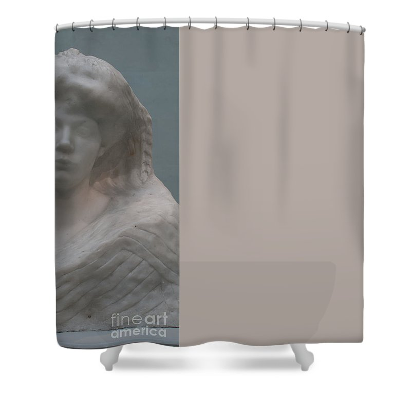 California Shower Curtain featuring the digital art Legion Of Honor Museum San Francisco by Carol Ailles