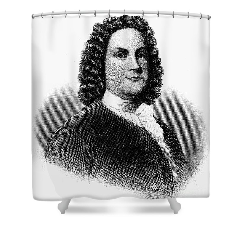 18th Century Shower Curtain featuring the photograph Benjamin Franklin (1706-1790) by Granger
