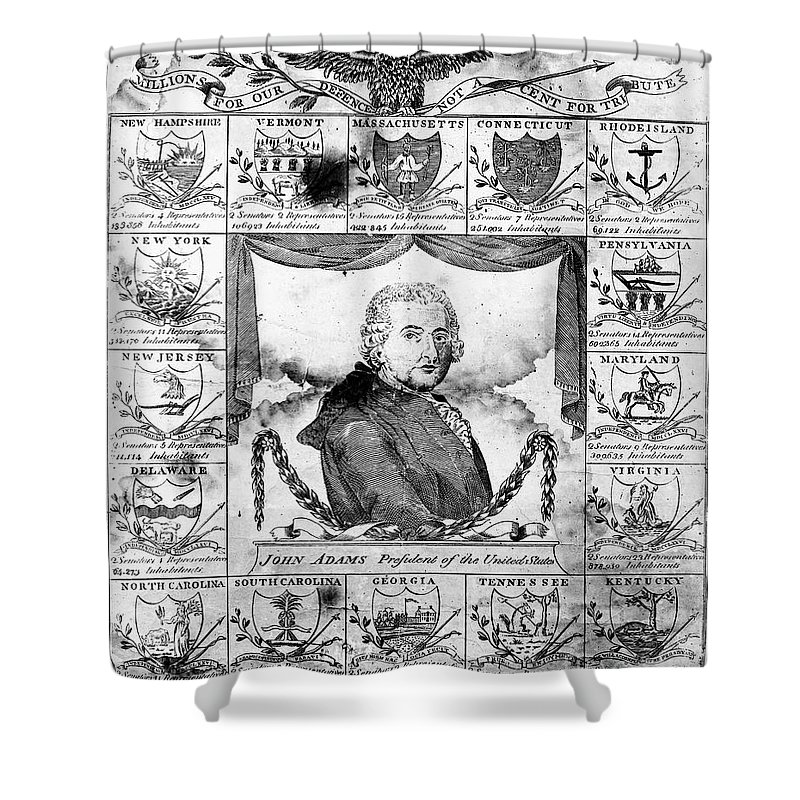 1799 Shower Curtain featuring the photograph John Adams (1735-1826) by Granger