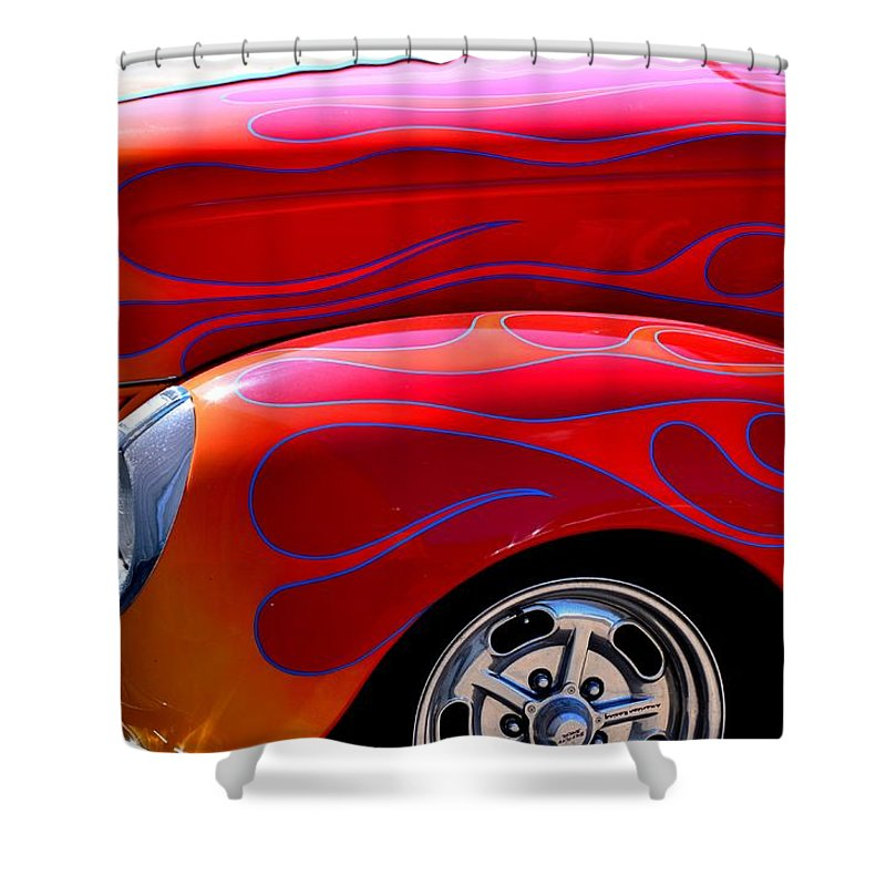 Ford Shower Curtain featuring the photograph 1940 Ford Stepside by Maria Urso