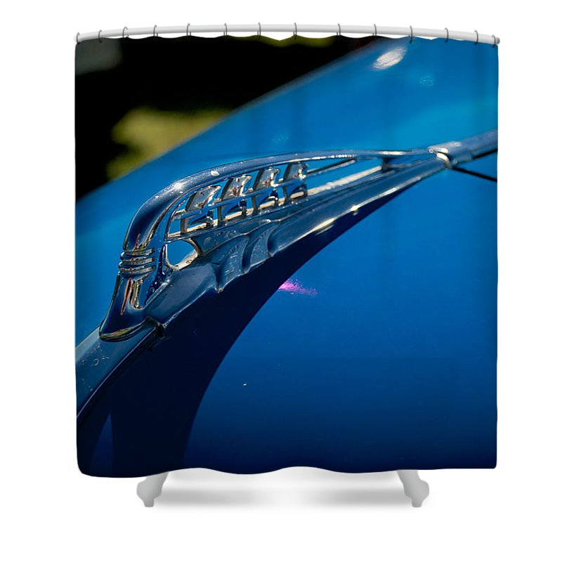 1944 Plymouth Pu Shower Curtain featuring the photograph 1944 Plymouth Pu Hood Ornament by Mark Dodd