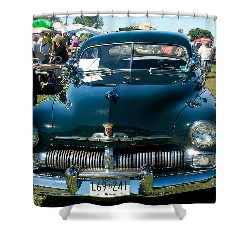 1950 Shower Curtain featuring the photograph 1950 Mercury by Mark Dodd