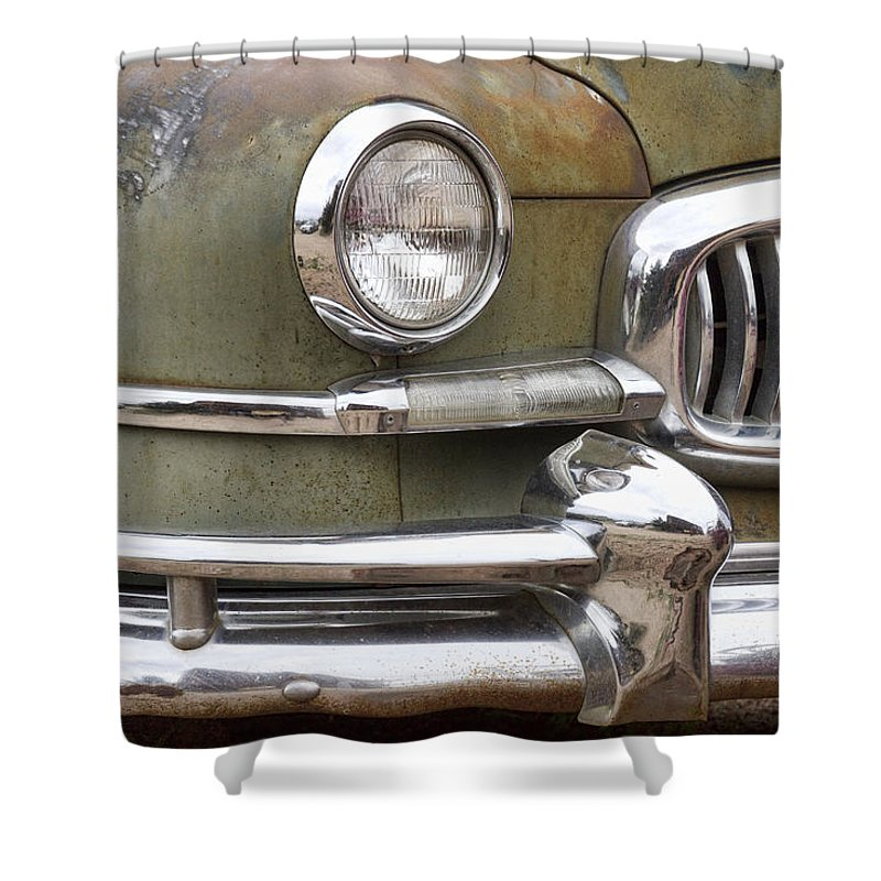 1951 Shower Curtain featuring the photograph 1951 Nash Ambassador by James BO Insogna