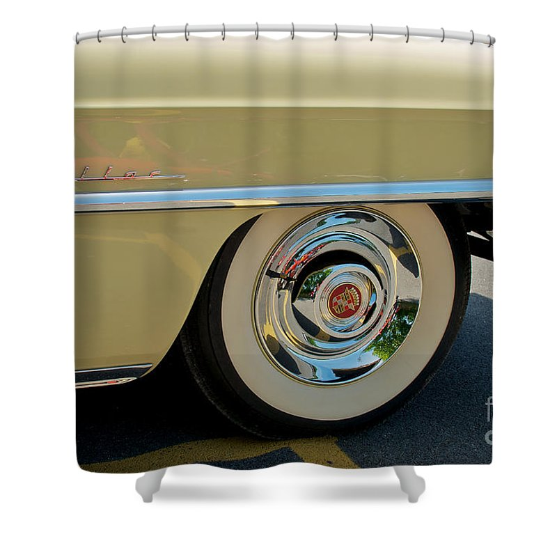 1955 Cadillac Coupe 2 Door Hardtop Shower Curtain featuring the photograph 1955 Cadillac 2 by Mark Dodd
