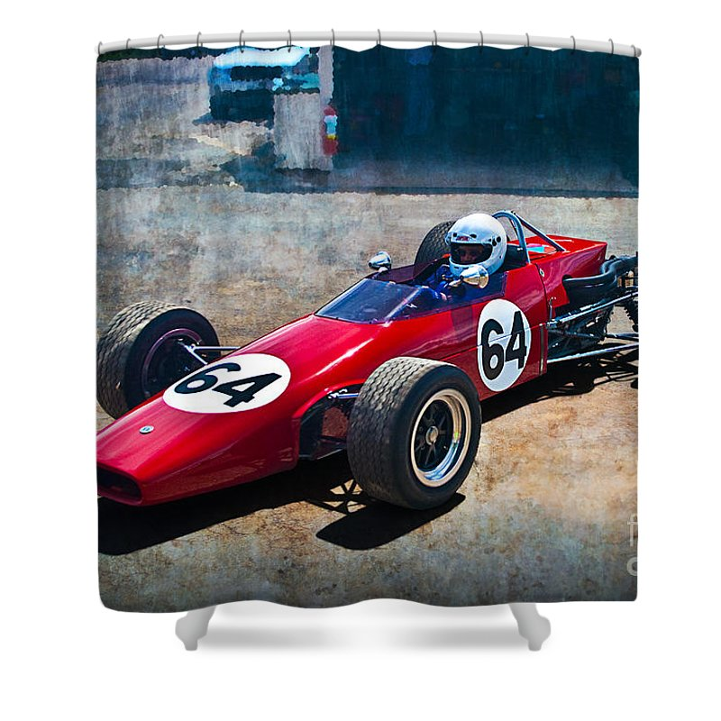 Historic Shower Curtain featuring the photograph 1968 Elfin 600 by Stuart Row