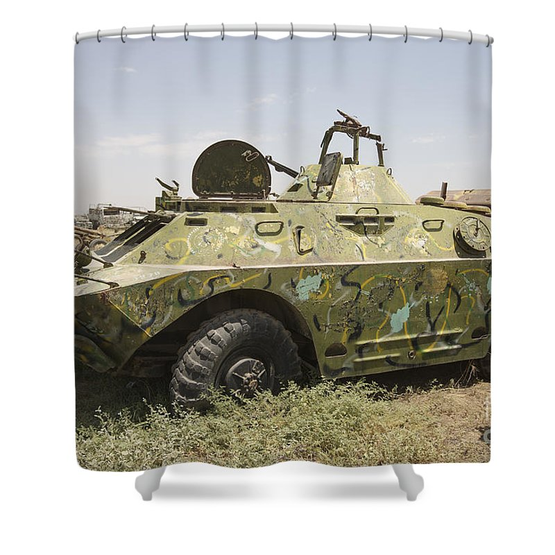 Kunduz Shower Curtain featuring the photograph A Brdm-2 Combat Reconnaissancepatrol by Terry Moore