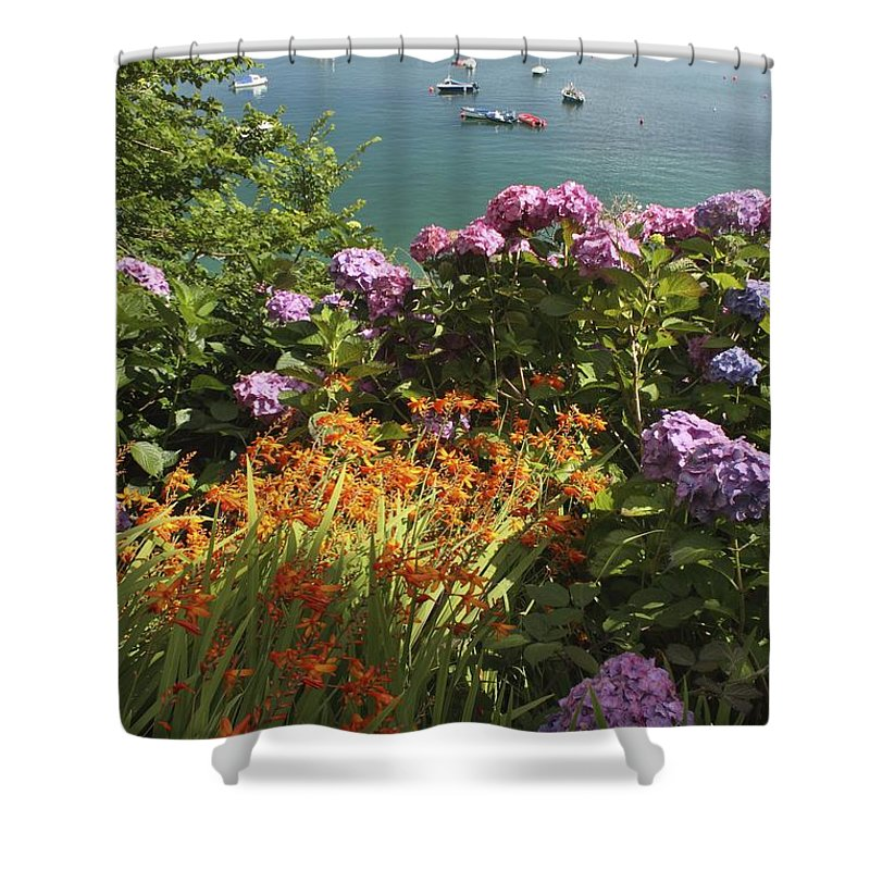 Boat Shower Curtain featuring the photograph Bay Beside Glandore Village In West by Trish Punch