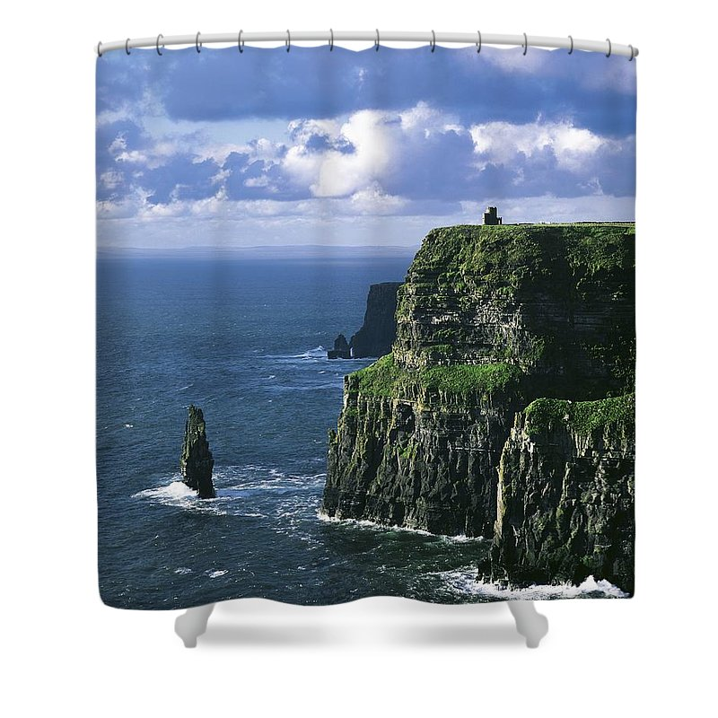 Clare Shower Curtain featuring the photograph Cliffs Of Moher, Co Clare, Ireland by The Irish Image Collection