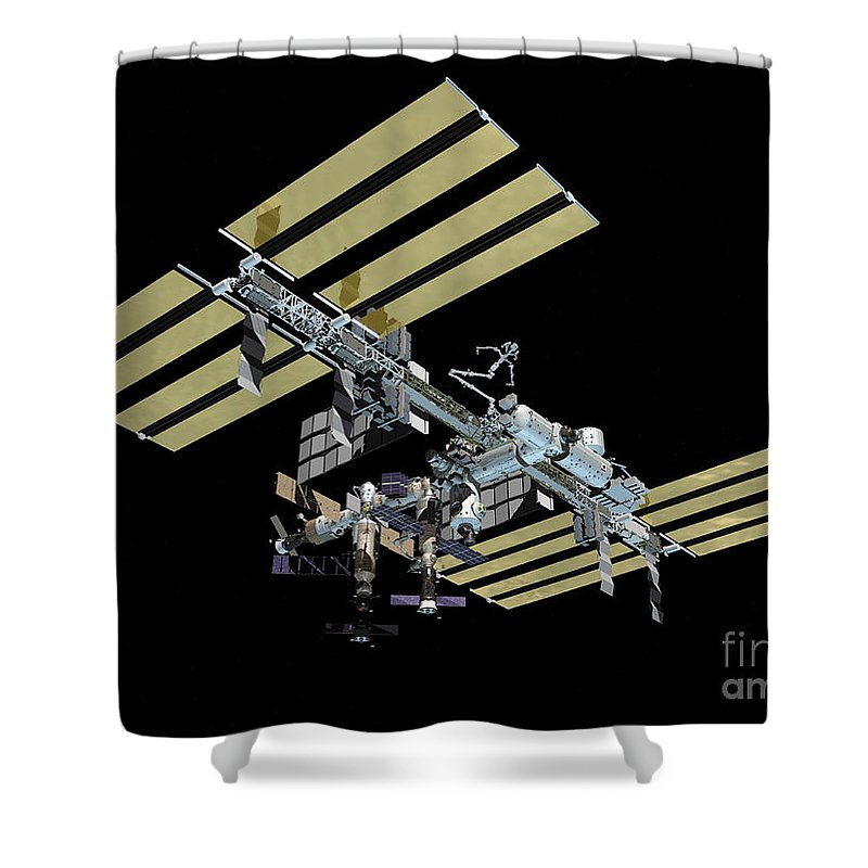 Color Image Shower Curtain featuring the digital art Computer Generated View by Stocktrek Images