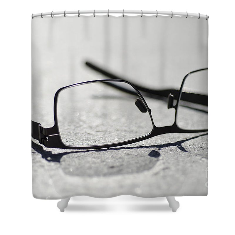 Eyeglasses Shower Curtain featuring the photograph Eyeglasses by Mats Silvan