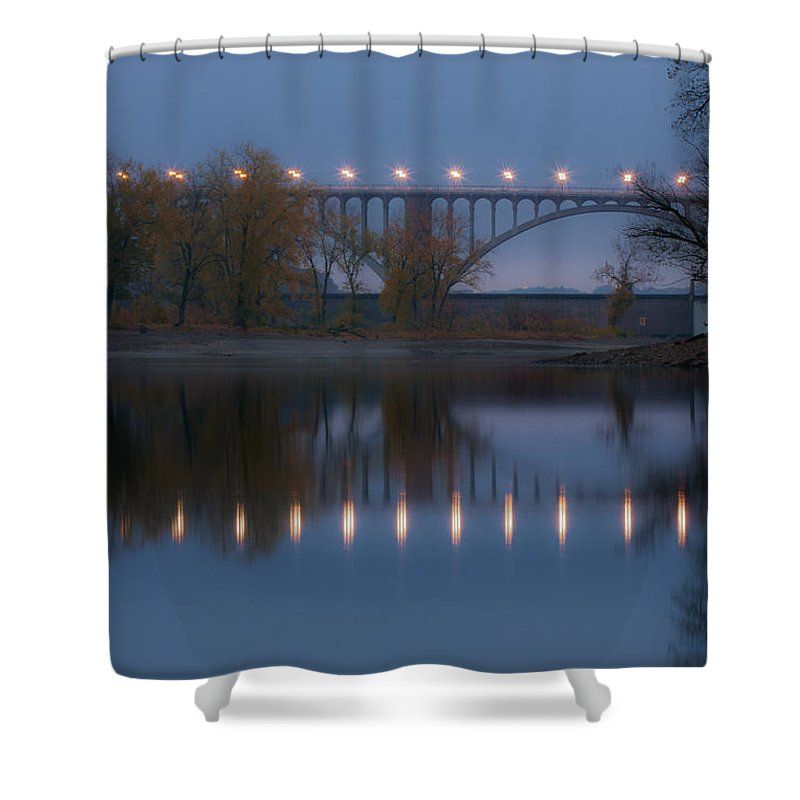 Bridge Shower Curtain featuring the photograph Ford Parkway Bridge by Tom Gort