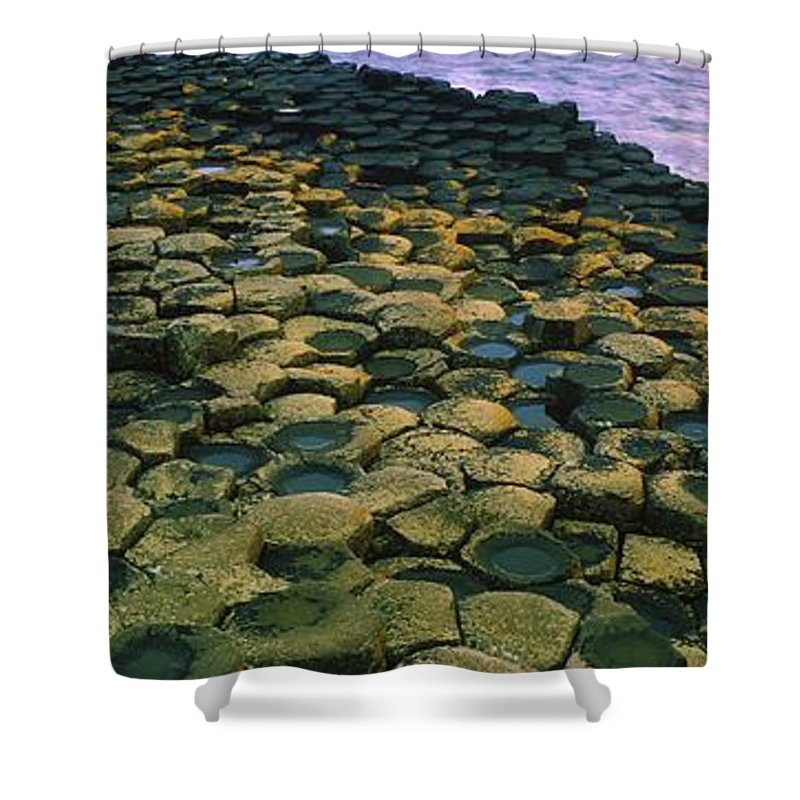 Beach Shower Curtain featuring the photograph Giants Causeway, Co Antrim, Ireland by The Irish Image Collection