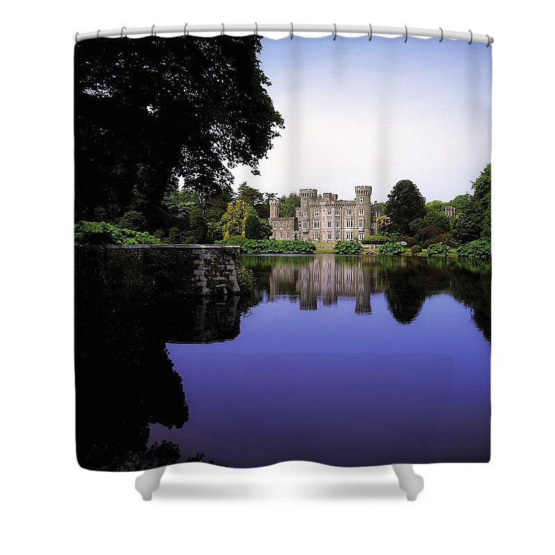 Archaeology Shower Curtain featuring the photograph Johnstown Castle, Co Wexford, Ireland by The Irish Image Collection