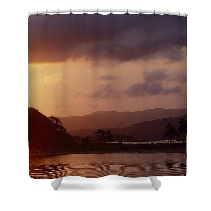 Back Lit Shower Curtain featuring the photograph Kenmare Bay, Dunkerron Islands, Co by The Irish Image Collection