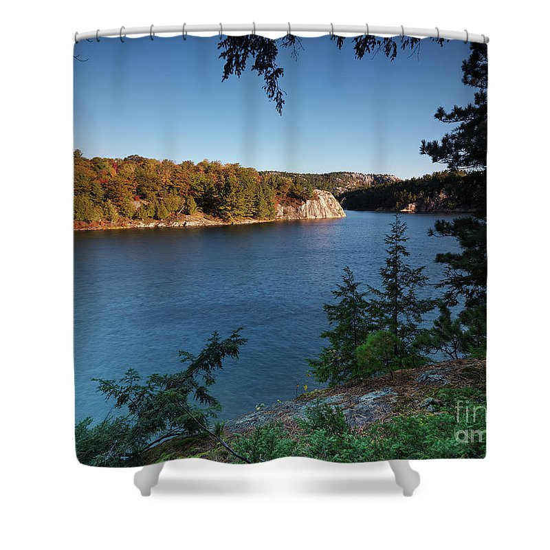 Lake Shower Curtain featuring the photograph Killarney Provincial Park by Oleksiy Maksymenko