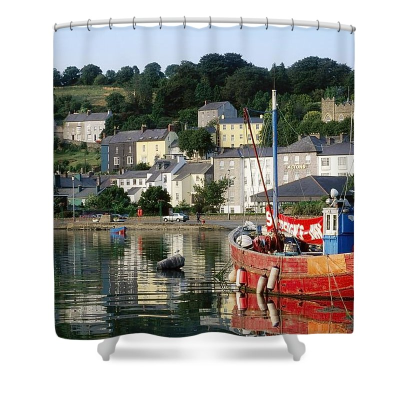 Building Shower Curtain featuring the photograph Kinsale Harbour, Co Cork, Ireland by The Irish Image Collection