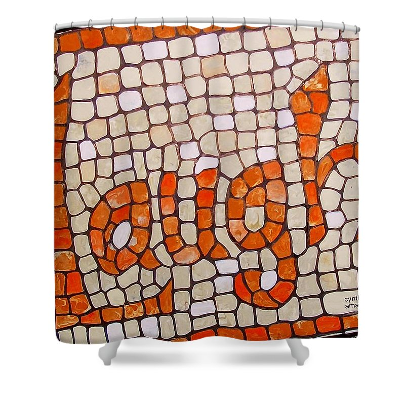 Laugh Shower Curtain featuring the painting Laugh by Cynthia Amaral