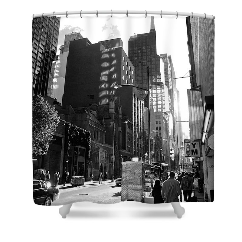 New York Shower Curtain featuring the photograph Morning Light by Eric Tressler